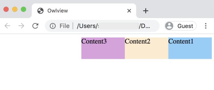 float:right;で右寄せのコンテンツに指定
